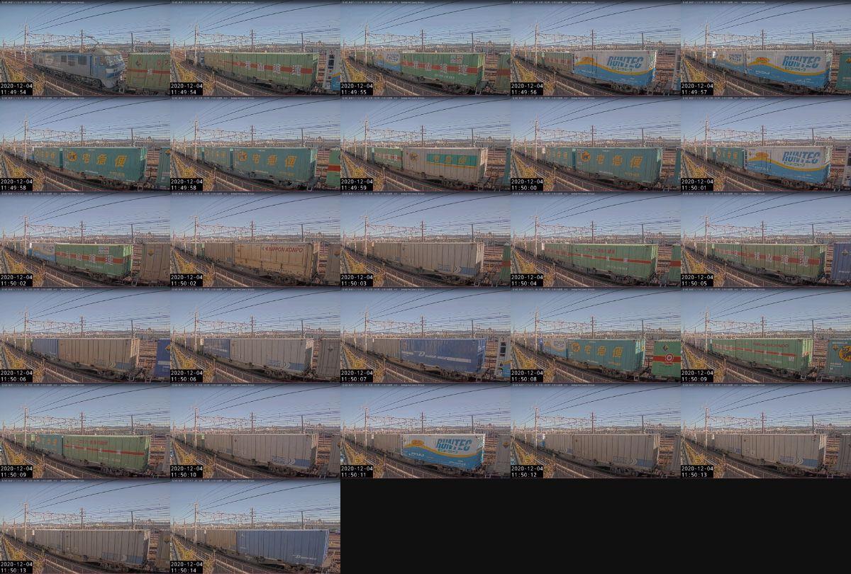 2020年12月4日発 1050レ(福岡貨物ターミナル → 東京貨物ターミナル)の列車編成