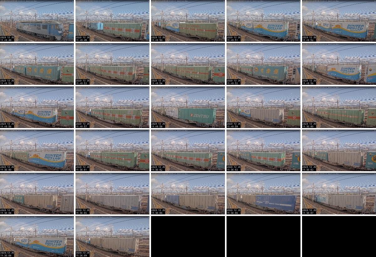 2020年12月20日発 1050レ(福岡貨物ターミナル → 東京貨物ターミナル)の列車編成
