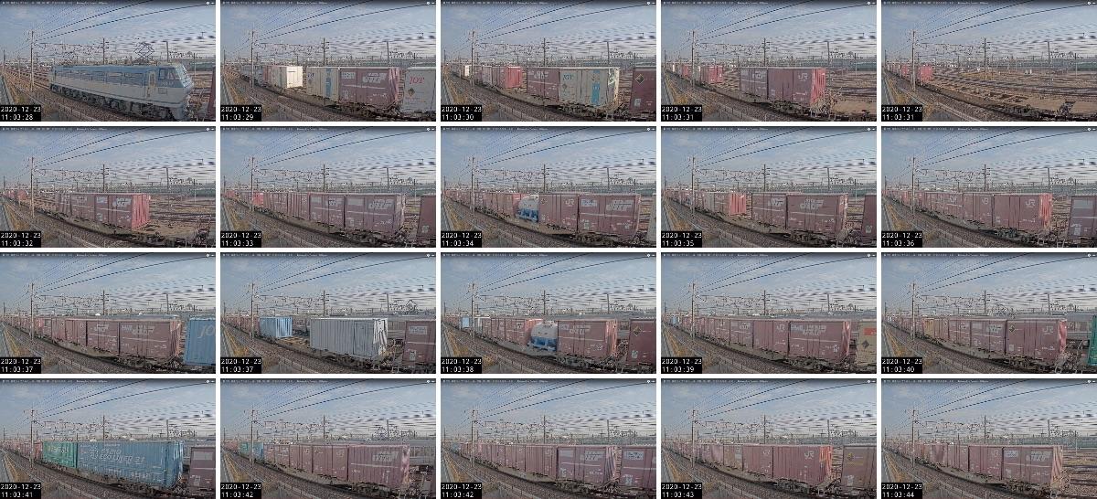 2020年12月23日発 2062レ(大阪貨物ターミナル → 東京貨物ターミナル)の列車編成