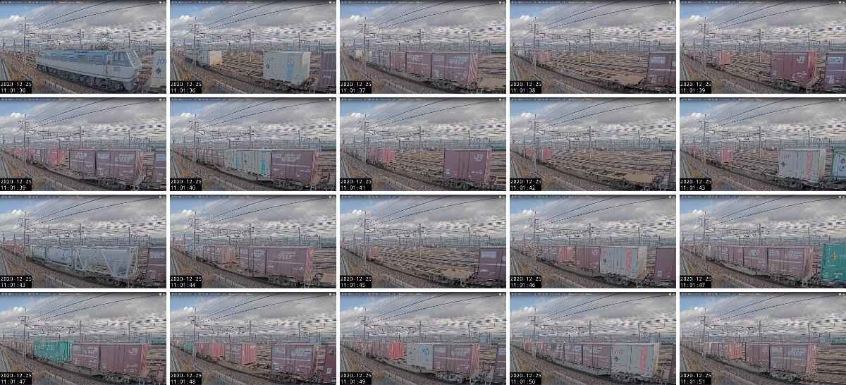 2020年12月25日発 2062レ(大阪貨物ターミナル → 東京貨物ターミナル)の列車編成