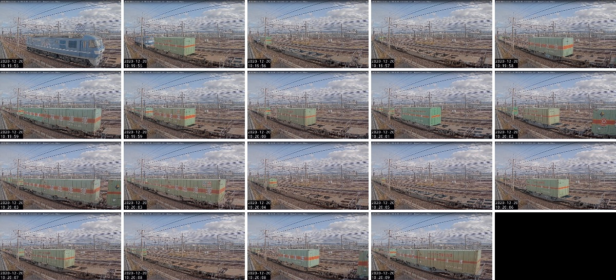 2020年12月19日発 56レ(福岡貨物ターミナル → 名古屋貨物ターミナル)の列車編成