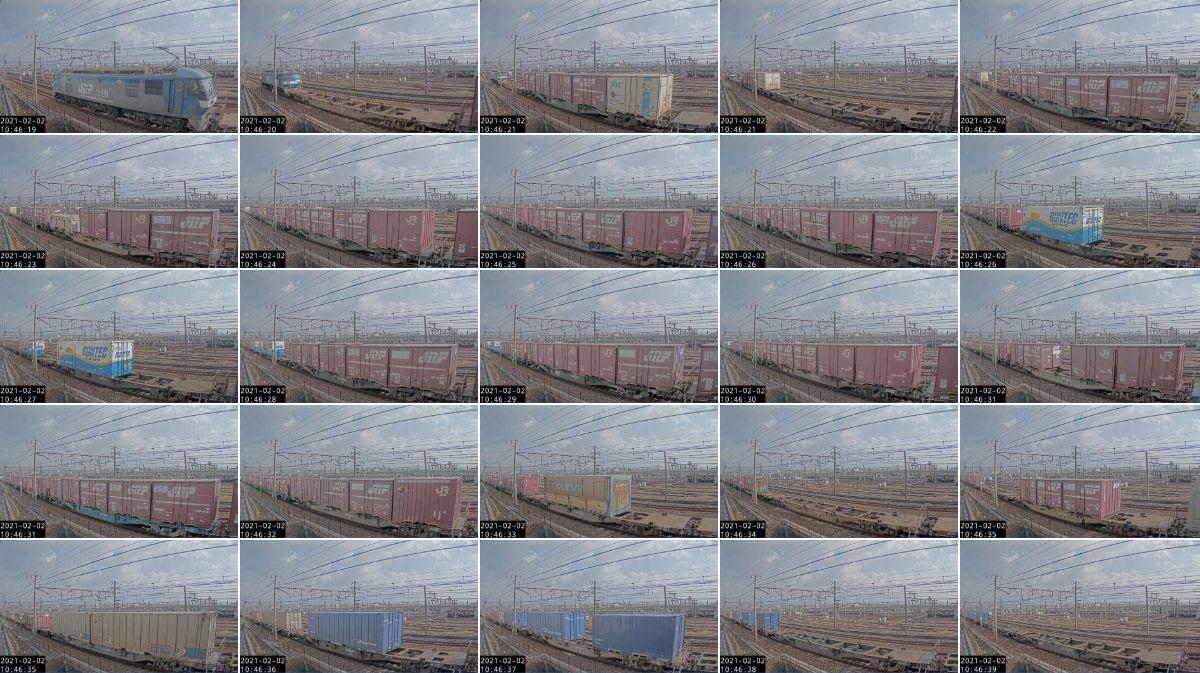 2021年2月1日発 1070レ(熊本 → 東京貨物ターミナル)の列車編成