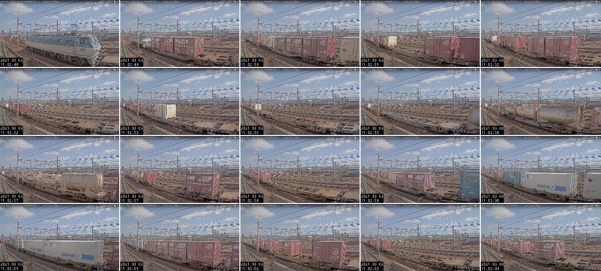 2021年3月3日発 2062レ(大阪貨物ターミナル → 東京貨物ターミナル)の列車編成