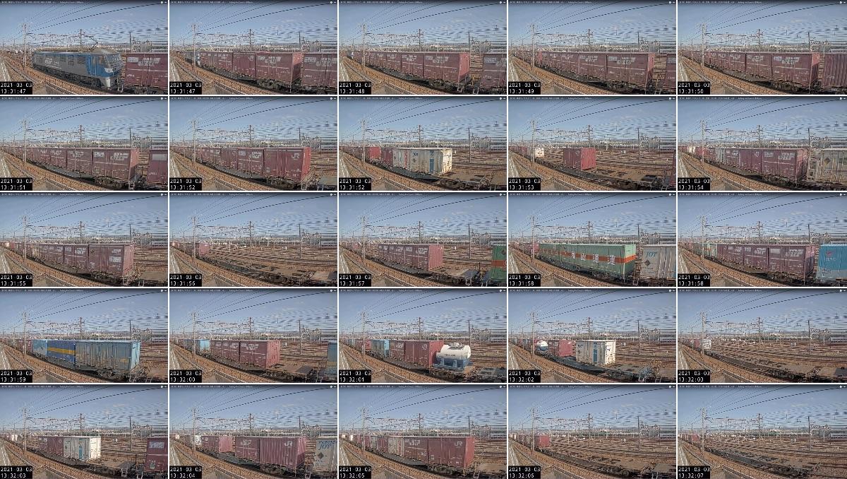2021年3月3日発 5074レ(北九州貨物ターミナル → 東京貨物ターミナル)の列車編成