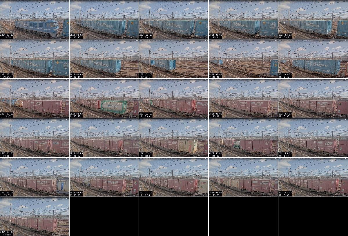 2021年3月2日発 8056〜8054レ(熊本 → 名古屋貨物ターミナル)の列車編成