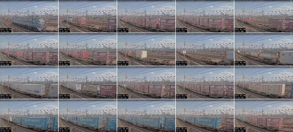 2021年3月4日発 2062レ(大阪貨物ターミナル → 東京貨物ターミナル)の列車編成