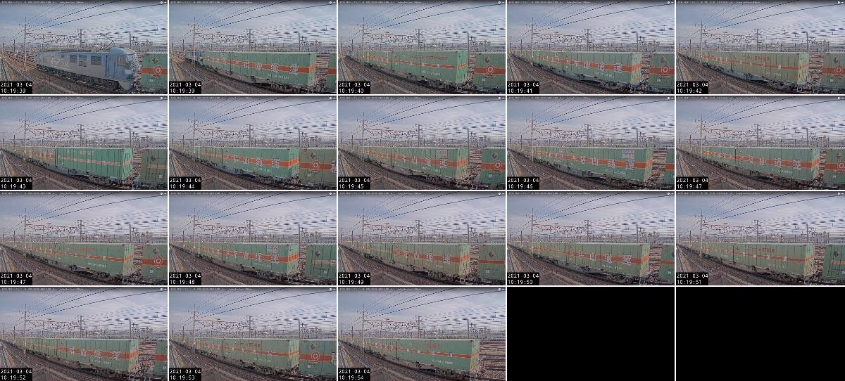 2021年3月3日発 56レ(福岡貨物ターミナル → 名古屋貨物ターミナル)の列車編成