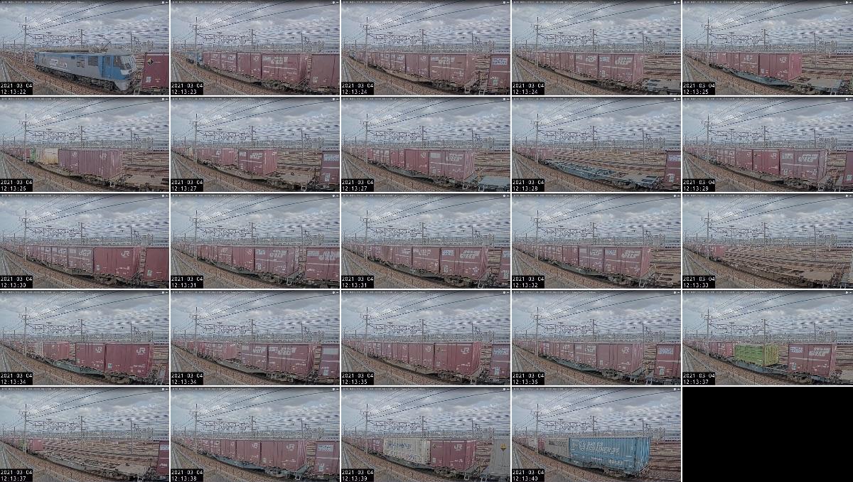 2021年3月3日発 68〜4069レ(福岡貨物ターミナル → 宇都宮貨物ターミナル)の列車編成