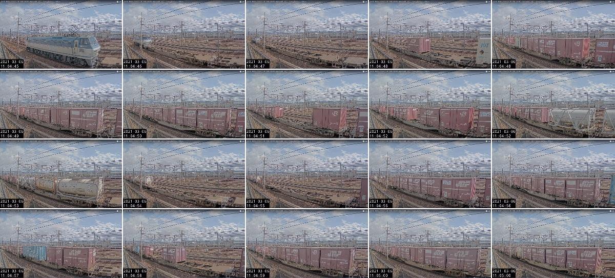 2021年3月6日発 2062レ(大阪貨物ターミナル → 東京貨物ターミナル)の列車編成