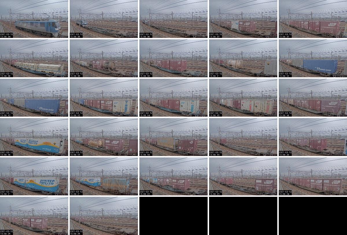 2021年3月11日発 1070レ(熊本 → 東京貨物ターミナル)の列車編成
