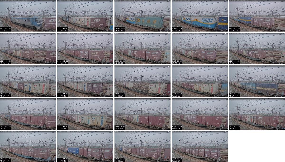 2021年3月30日発 5070〜4071レ(福岡貨物ターミナル→仙台貨物ターミナル)