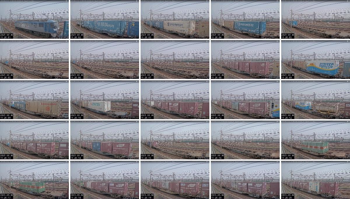 2021年3月29日発 62レ(福岡貨物ターミナル → 東京貨物ターミナル)の列車編成