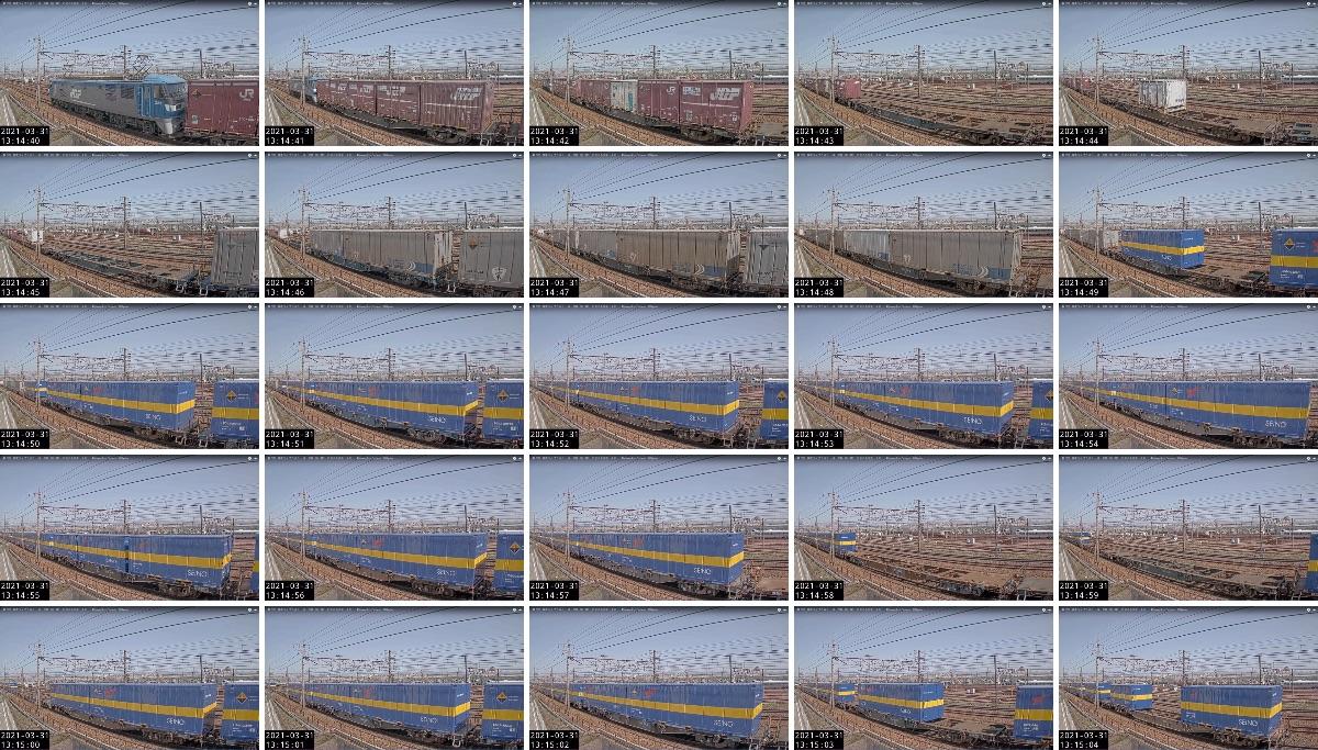 2021年3月31日発 5050レ:「カンガルーライナーNF64」(福岡貨物ターミナル → 名古屋貨物ターミナル)の列車編成
