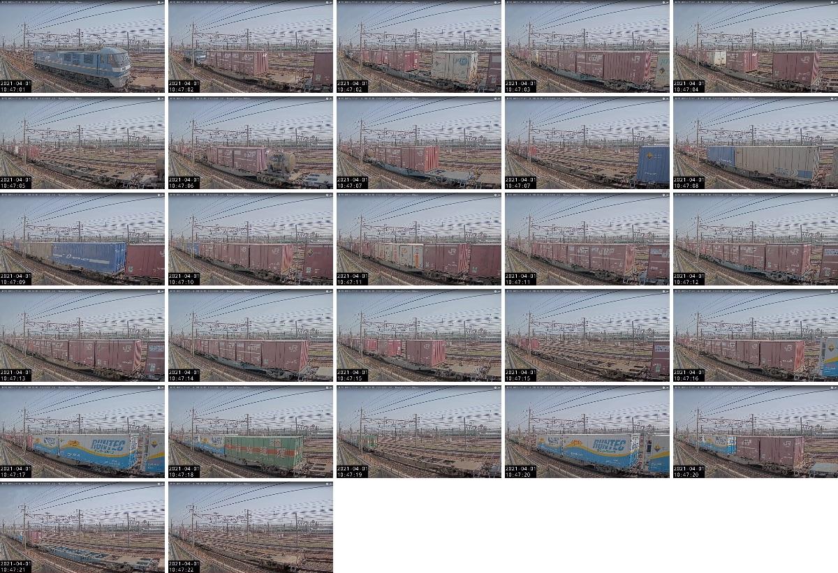 2021年3月31日発 1070レ(熊本 → 東京貨物ターミナル)の列車編成