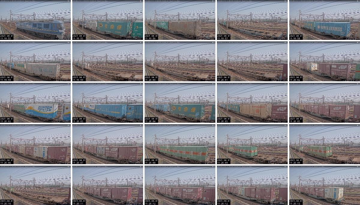 2021年3月31日発 62レ(福岡貨物ターミナル → 東京貨物ターミナル)の列車編成