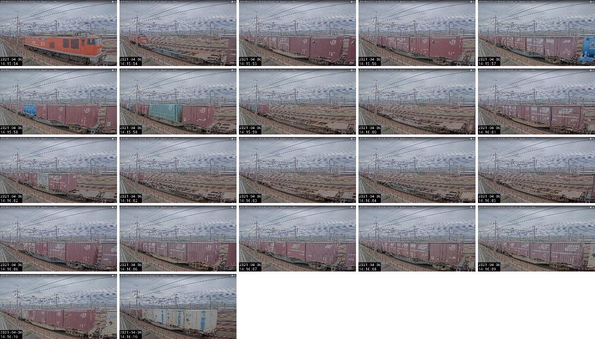 2021年4月6日発 4071レ(百済貨物ターミナル → 新潟貨物ターミナル)の列車編成